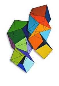 Opera Madi N 30. Solidi in sequenza ondulata N 3, 2000, 88x60x8 cm, acrilico su tela su multistrati, Studio d Arte Valmore, Vicenza